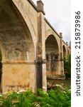 Small photo of abandoned bridge over Tiron river in Haro, La Rioja. Spain