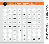 65 arrow sign icon set. part 1. ...