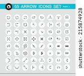 65 arrow sign icon set. part 2. ...