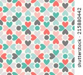 floral vector seamless pattern. ... | Shutterstock .eps vector #215880442