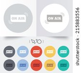 on air sign icon. live stream... | Shutterstock . vector #215883556