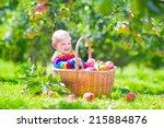 cute funny little baby boy...   Shutterstock . vector #215884876