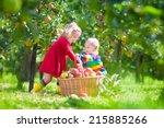happy little children  toddler... | Shutterstock . vector #215885266