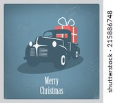 Vintage Retro Christmas Card...