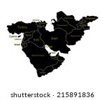 middle east vector map set of... | Shutterstock .eps vector #215891836
