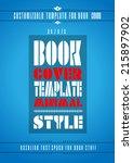 minimal modern book cover... | Shutterstock . vector #215897902