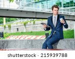 confident businessman in formal ... | Shutterstock . vector #215939788