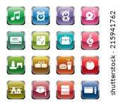 education icons | Shutterstock .eps vector #215941762