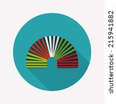 rainbow spiral flat icon with... | Shutterstock .eps vector #215941882
