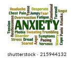 anxiety word cloud on white...   Shutterstock . vector #215944132