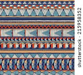 tribal vector pattern. seamless ... | Shutterstock .eps vector #215958352