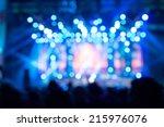 de focused concert crowd.  | Shutterstock . vector #215976076