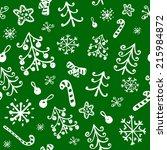christmas pattern   Shutterstock .eps vector #215984872