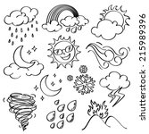 weather icons collection | Shutterstock .eps vector #215989396