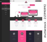 flat website template  homepage ...