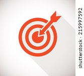 target icon. target logo... | Shutterstock .eps vector #215997592
