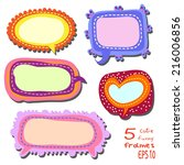 Set Of 5 Bright Multicolored...