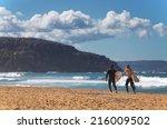 palm beach australia   august...   Shutterstock . vector #216009502