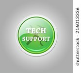 tech support glossy shiny... | Shutterstock .eps vector #216013336