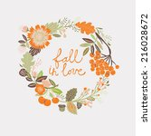 fall in love | Shutterstock .eps vector #216028672