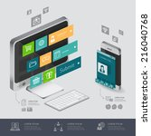 infographic communication and... | Shutterstock .eps vector #216040768