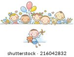 Cartoon Kids Border Frame