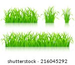 green grass.  | Shutterstock . vector #216045292