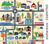 modern city map elements for... | Shutterstock .eps vector #216047965