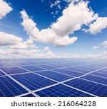photovoltaic power generation... | Shutterstock . vector #216064228
