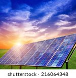 photovoltaic power generation... | Shutterstock . vector #216064348