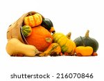 Group Of Autumn Squash And...