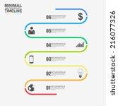 vector infographic report... | Shutterstock .eps vector #216077326