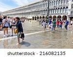 venice  italy   july 12 2014 ... | Shutterstock . vector #216082135