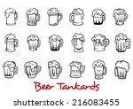 outline pint tankards set of...