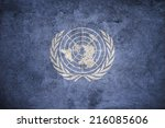 United Nations Un Flag On The...