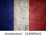 France Flag On The Grunge...
