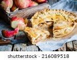 Apple Pie On A Wooden...