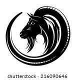 goat circle tribal tattoo art. | Shutterstock .eps vector #216090646