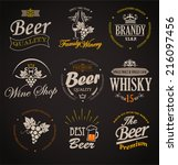 set of badges and labels... | Shutterstock .eps vector #216097456
