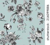 seamless vector vintage pattern ... | Shutterstock .eps vector #216099886