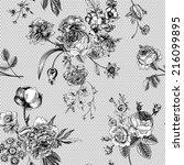 seamless vector vintage pattern ... | Shutterstock .eps vector #216099895