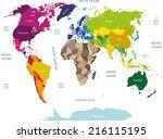 world map | Shutterstock .eps vector #216115195