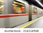 Fast Underground Subway Train...