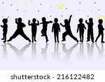 happy children | Shutterstock .eps vector #216122482