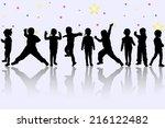 happy children | Shutterstock .eps vector #216122482