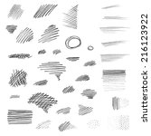 set of hand drawn pencil... | Shutterstock .eps vector #216123922