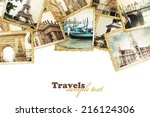 old photos on the white.... | Shutterstock . vector #216124306
