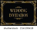 an art deco style invitation... | Shutterstock .eps vector #216130618