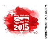 christmas card with... | Shutterstock .eps vector #216130675