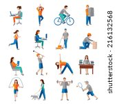 physical activity healthy... | Shutterstock .eps vector #216132568